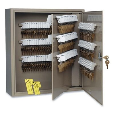 "MMF Industries Key Cabinet, 240 Key Capacity, 16-1/2""x4-7/8""x20-1/8"", Sand"