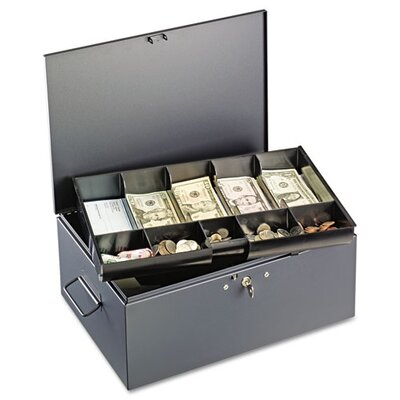 MMF Industries Steelmaster Extra Large Cash Box with Handles