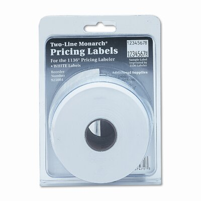 Monarch Marking Two-Line Easy-Load Pricemarker Labels, 5/8 x 7/8, White, 3500 per Card