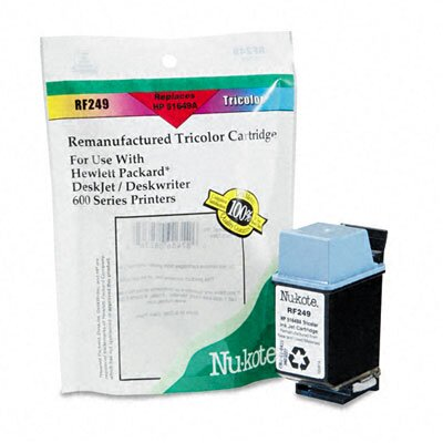 Nu-Kote® RF249 (51649A) Remanufactured Inkjet Cartridge, Tri-Color