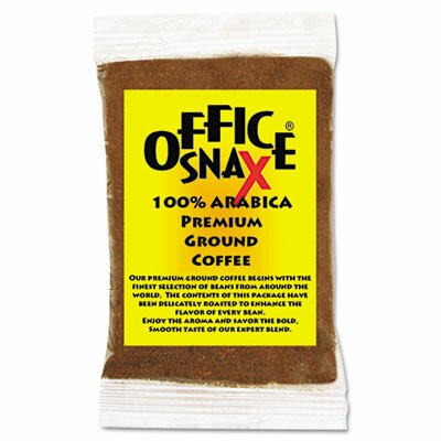 Office Snax 100% Pure Arabica Coffee, Original Blend, 1.5 oz Packet, 63/Pack