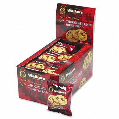 Office Snax Walker's Shortbread Cookies, 2 Cookies/Pack, 24 Packs/Box