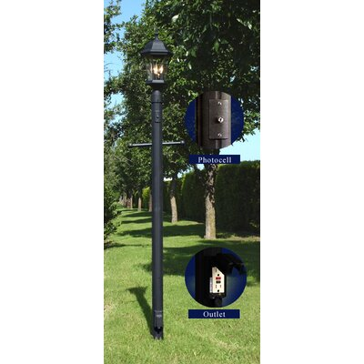 Craftmade Outdoor Post Mount with Convenient Outlet