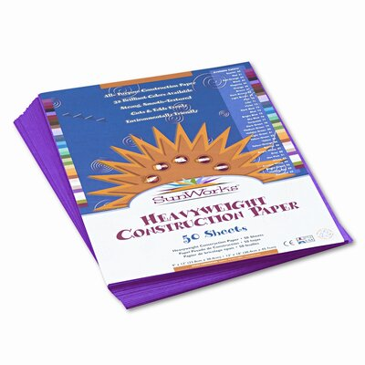 Pacon Corporation Sunworks Construction Paper, 58 Lbs., 9 X 12, 50 Sheets/Pack