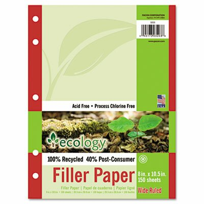 Pacon Corporation Ecology Filler Paper, 150 Sheets/Pack