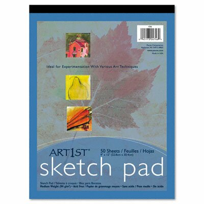 Pacon Corporation Art1St Sketch Pad, 60-Lbs, 50 Sheets/Pad