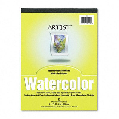 Pacon Corporation Artist Watercolor Paper Pad, 9 x 12, White, 12 Sheets per Pad