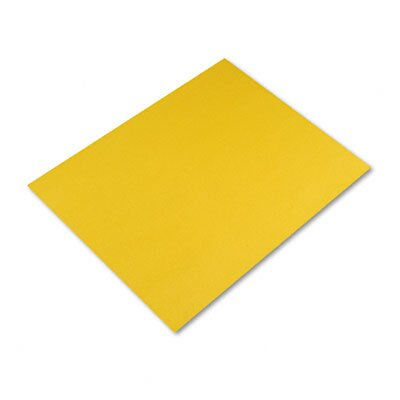 Pacon Corporation Colored Four-Ply Poster Board, 28 x 22, Canary, 25 per Carton
