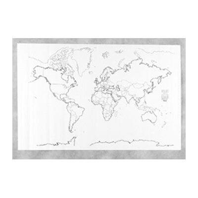 Pacon Corporation Giant World Map