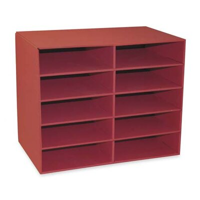 "Pacon Corporation 10-Shelf Organizer, 12-7/8""x21""x17"", Shelves 12-1/2""x10""x3"""