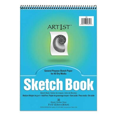 "Pacon Corporation Sketch Book, Acid-free, Medium Weight, 9""x12"", 30 Sheets"