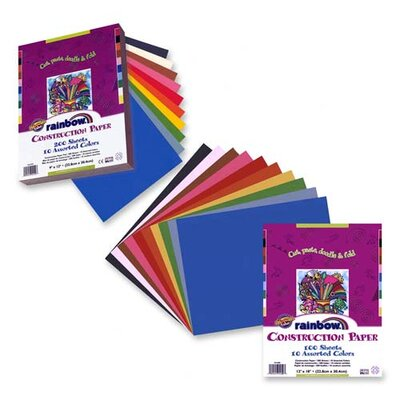"Pacon Corporation Economy Construction Paper, 9""x 12"", 200/PK, Assorted"