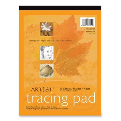 "Pacon Corporation Tracing Pad,F/Sketches and Overlays,9""x12"",40 Sheets, White"