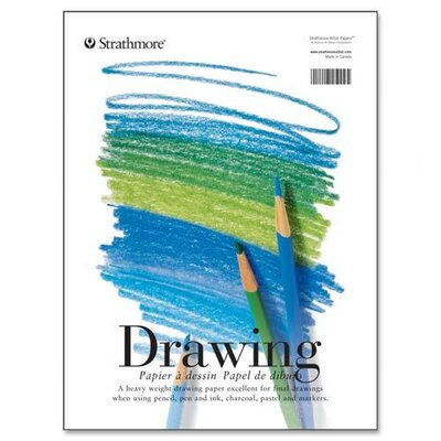 "Pacon Corporation Strathmore Drawing Pads, 70 lb., 11""x14"", 40 Sheets"