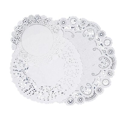 "Pacon Corporation Paper Doilies, Assorted Sizes 4""/6""/8"", 30 per Pack, White"
