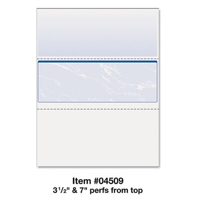 Paris Business Products Docugard Standard Security Marble Business Middle Check, 500/Rm