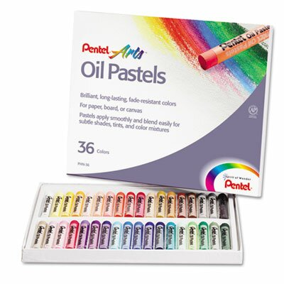 Pentel of America, Ltd. Oil Pastel Set with Carrying Case, 36/Set