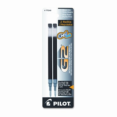 Pilot Pen Corporation of America Refill for G2 Gel, Dr. Grip Gel / Ltd, Execugel G6, Q7, Fine Tip, 2/Pack