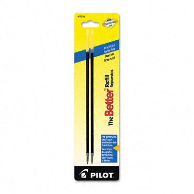 Pilot Pen Corporation of America Refill, Non-Retract Better / Bettergrip / Easytouch Ballpoint, Fine, 2/Pack