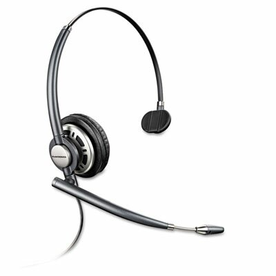 Plantronics EncorePro Monaural Over-the-Head Headset w/Noise Canceling Microphone