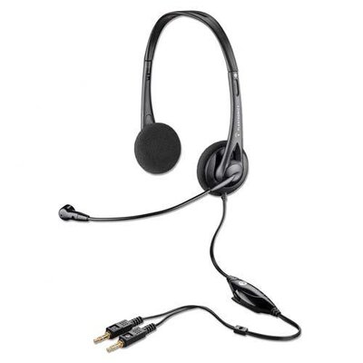 Plantronics Multimedia Headset, Flexible Headband, Black/Silver
