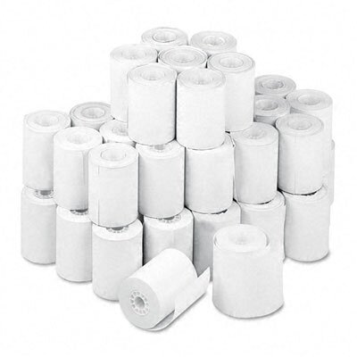 "PM Company Thermal Receipt Cash Register/POS Rolls, 2-1/4""w, 80'l, White, 50/carton"
