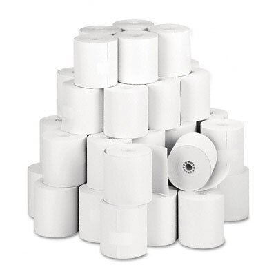 "PM Company Specialty Thermal Cash Register Rolls, 3-1/8""w, 273'l, White, 50/carton"