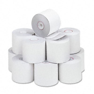 PM Company Two-Ply Calculator Receipt Paper Rolls, 2-1/4&quot;w, 90'l, White, 12/pk                                                          