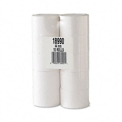 "PM Company Cash Register/POS Bond Receipt Rolls, 1-3/4""w, 150'l, White, 10/pk"