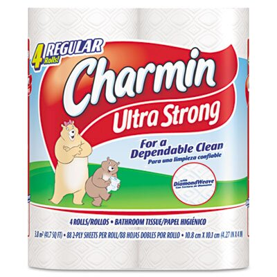 Procter & Gamble Commercial Charmin Ultra Strong Two-Ply Bathroom Tissue, 4/Pack