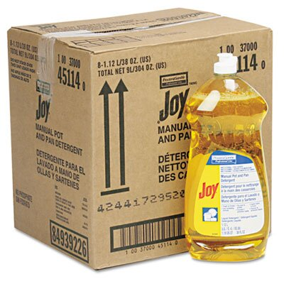 Procter & Gamble Commercial Joy Dishwashing Liquid, 38oz Bottle, 8/carton
