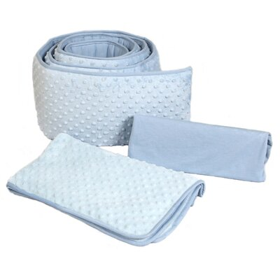 Tadpoles Dimple Velour 3 Piece Portacrib Bedding Set