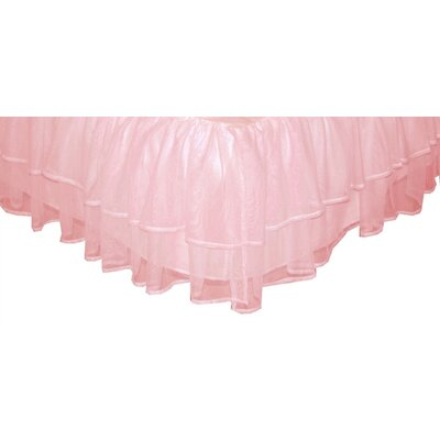 Tadpoles Triple Layer Tulle Bed Skirt Pink