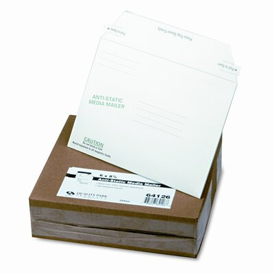 Quality Park Products Antistatic Fiberboard Disk Mailer, 25/Box