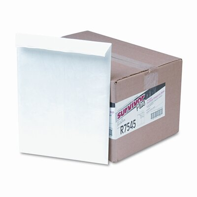 Quality Park Products Tyvek Air Bubble Mailer, Self-Seal, Side Seam, 10 x 13, White, 25/box