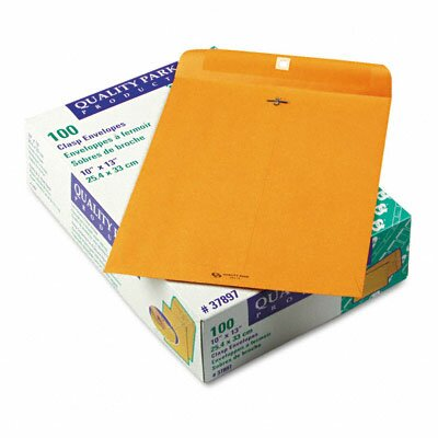 Quality Park Products Clasp Envelope, 10 X 13, 100/Box