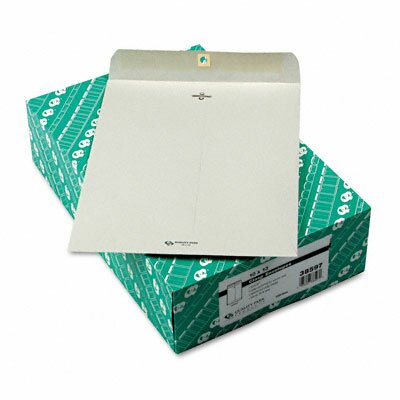 Quality Park Products Clasp Envelope, 10 x 13, 28lb, Executive Gray, 100/box