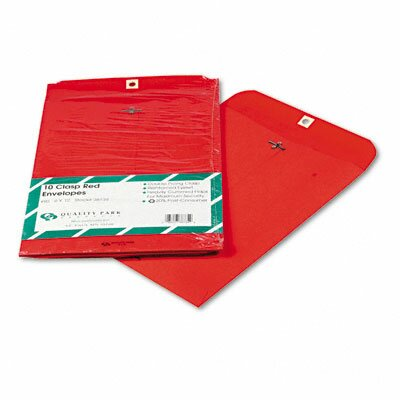 Quality Park Products Fashion Color Clasp Envelope, 9 X 12, 10/Pack