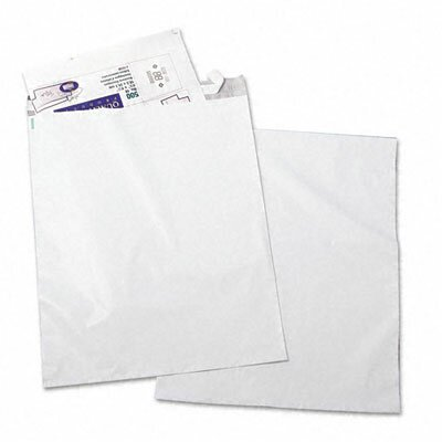 Quality Park Products Redi-Strip Recycled Poly Mailer, Side Seam, 14 x 19, White, 100/pack
