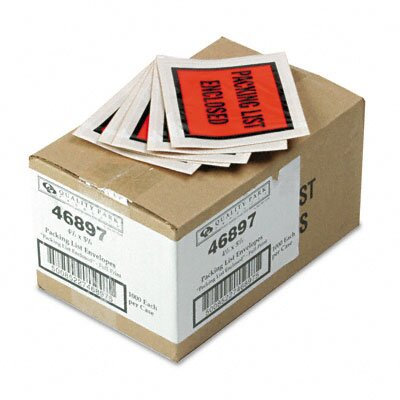 Quality Park Products Full-Print Self-Adhesive Packing List Envelope, 1000/Box