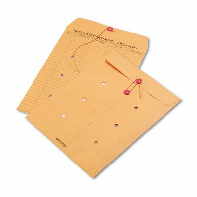 Quality Park Products Light Brown Kraft String & Button Interoffice Envelope, 10 x 13, 100/carton