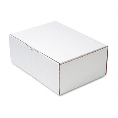 Quality Park Products Corrugated Cardboard Die-Cut Folded Mailing Box, 10 x 14 x 5-1/2, White