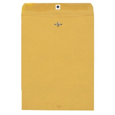 "Quality Park Products Gummed Clasp Envelope, 28Lb, 5""x11-1/2"", 100/BX, Kraft"