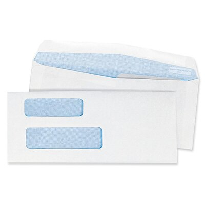 "Quality Park Products Double Window Envelope,24Lb,No 9,3-7/8""x8-7/8"",500 per Box,White"