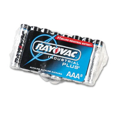 Rayovac® Industrial PLUS Alkaline Batteries, AAA, 8/Pack