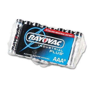 Rayovac® Industrial PLUS Alkaline Batteries, AAA, 8/Pack