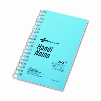 National® Brand Wire bound Memo Book, 60 Sheets