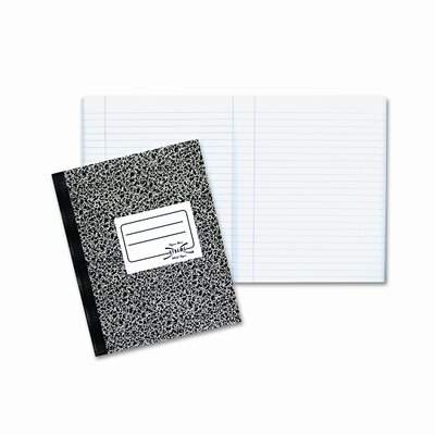 Rediform Office Products Composition Book, Wide/Margin Rule, 7-7/8 x 10, White, 80 Sheets/Pad