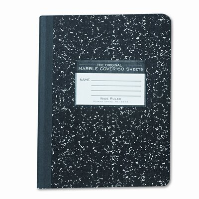 Roaring Spring Paper Products Marble Cover Composition Book, Wide Rule, 9-3/4x7-1/2, 60 Pages