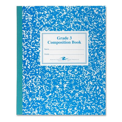 Roaring Spring Paper Products Grade School Ruled Composition Book, 9-3/4 x 7-3/4, 50 Sheets, Blue